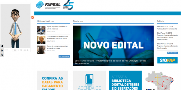 Fapeal aproxima site institucional do público